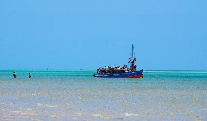 boleia boat on the water in mozambique