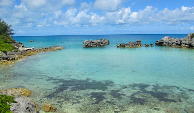 Bermuda cove is very peaceful and warm spot to swim