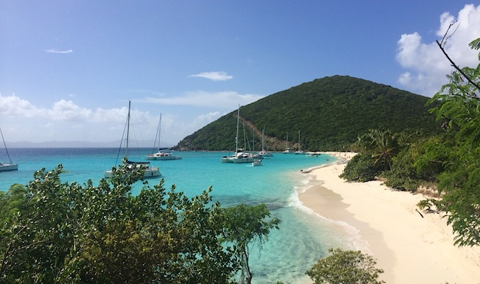 explore jost van dyke waterfront from above