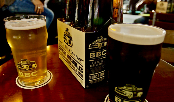 Some of the craft beers offered by the Bogota Brewing Company in Colombia