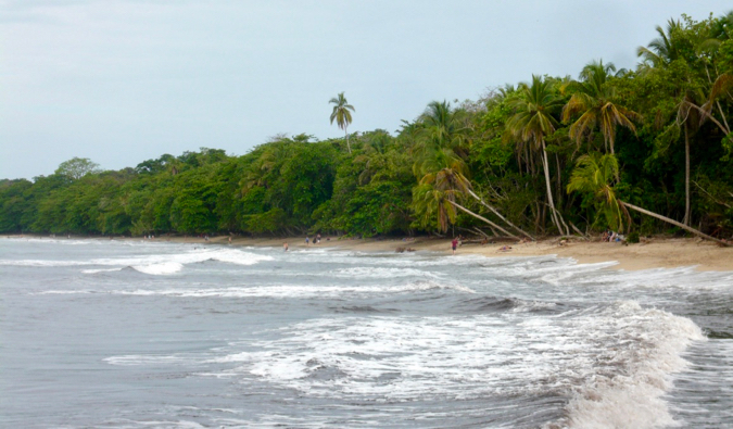 The stunning coastline of Cahuita National Park in Cista Rica