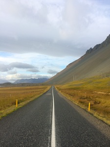 Travelling the empty roads in Iceland