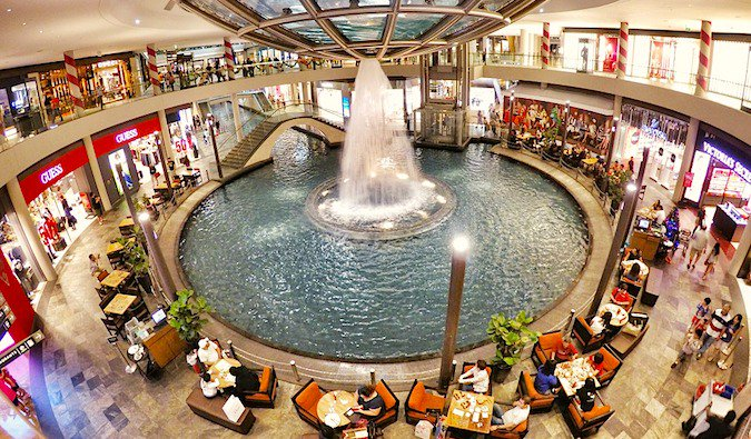 A busy underground mall in Singapore