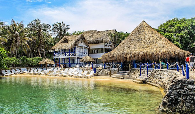 a beach resort in Colombia
