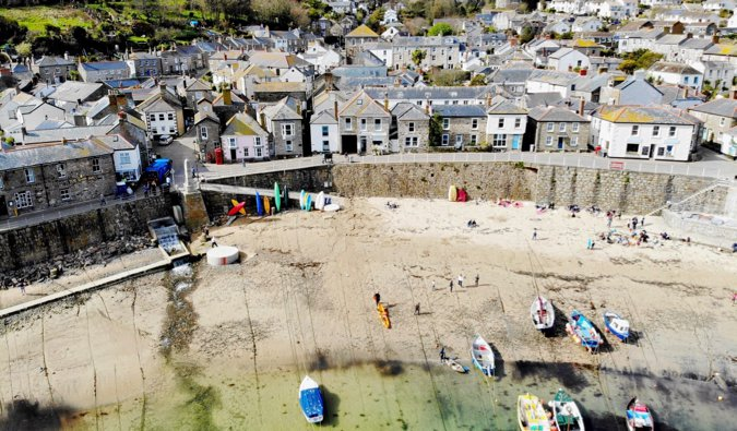 The town of Mousehole in Cornwall, England