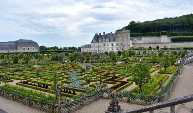 Villandry chateau in France
