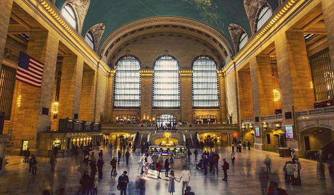 busy grand central station