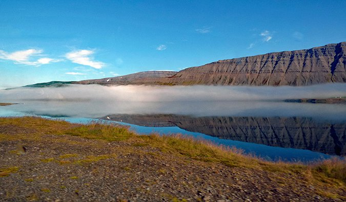 A sunny day in the Westfjords of Iceland
