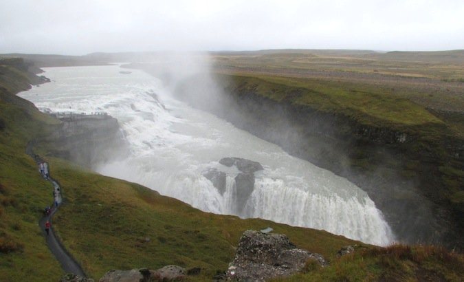 Gulfoss! Part of the Golden Circle, this is one of the biggest waterfalls in Iceland