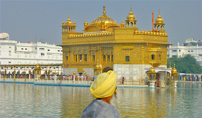 Golden Temple buy the river in Amritsar