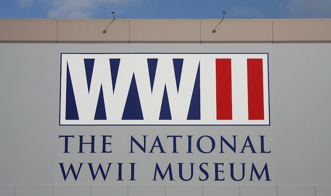 The National World War II Museum sign