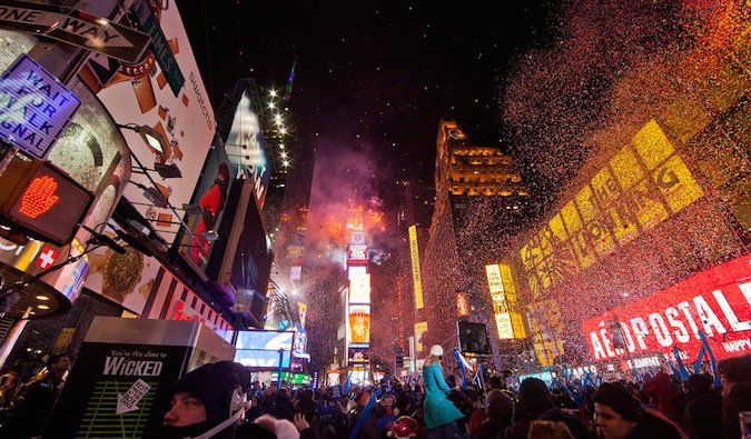 New York times square on New Year%image_alt%27s eve