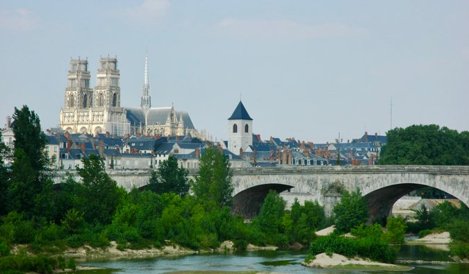 The historic city of Orleans and it$0027s medieval bridge