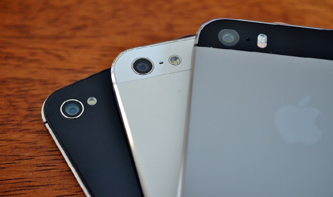Closeup of 3 smartphone cameras