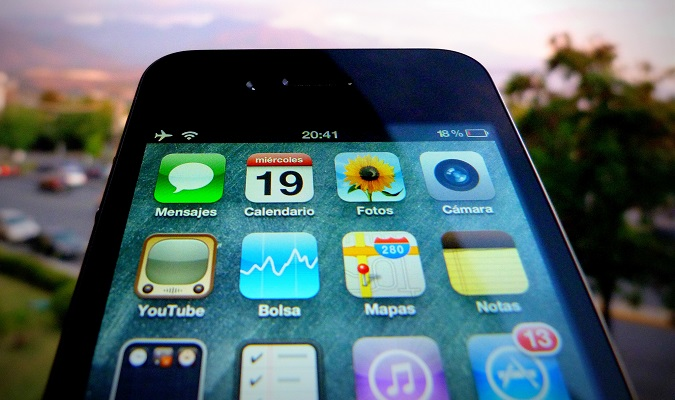 Closeup of smartphone apps that are useful on the road