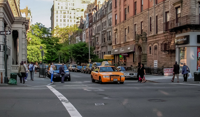street view of the Upper West Side NYC; Photo by Juliana Swenson; flickr:@julianaswenson