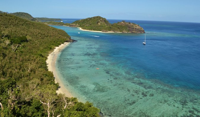 The tiny island of Beachcomber in the Yasawa Islands in Fiji