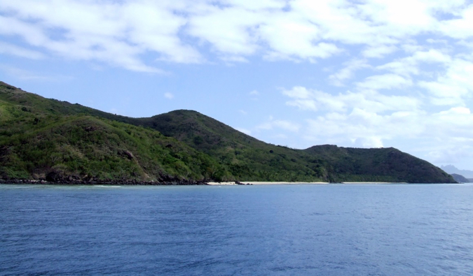 The a lush island in the Yasawa Islands in Fiji