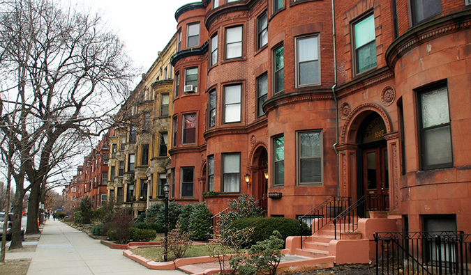 Casas victorianas en Brookline, Boston Beantown